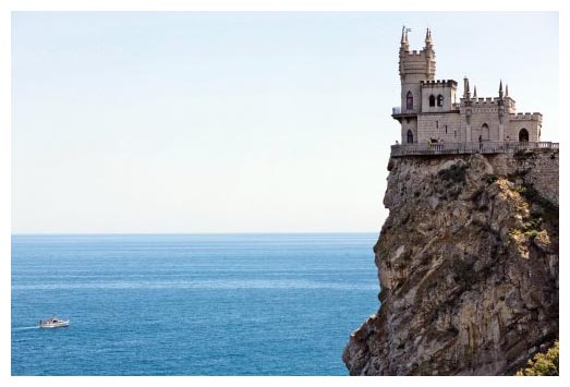 Bird-nest cliff with castle in Crimea